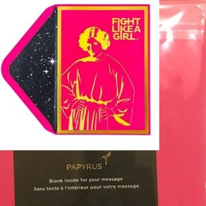 Papyrus Star Wars Fight Like Girl Greeting Card